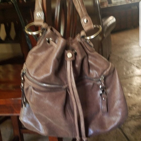 b. makowsky Bags   B Makowsky Brown Leather Hobo Stile Bag   Poshmark b0144ecc9c